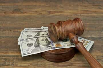 Gavel and money to reflect a child support order